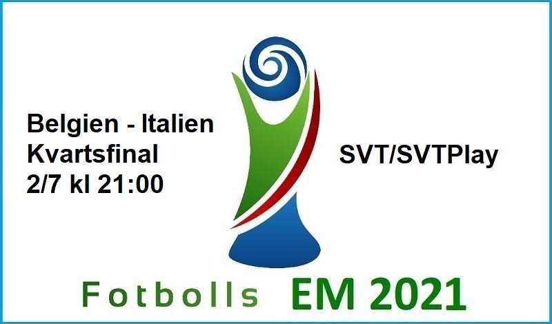 Belgien - Italien i Fotbolls EM 2021