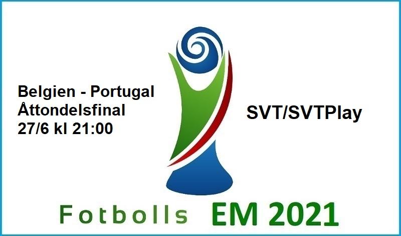 Belgien - Portugal i Fotbolls EM 2021