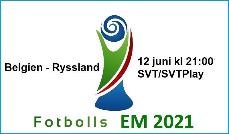 Belgien - Ryssland i Fotbolls EM 2021