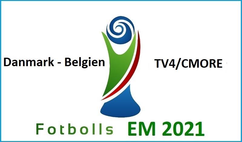 Danmark - Belgien i Fotbolls EM 2021