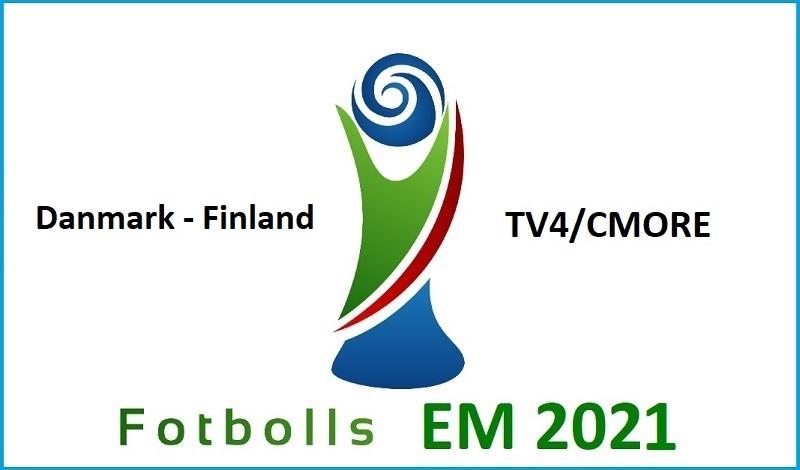 Danmark - Finland i Fotbolls EM 2021
