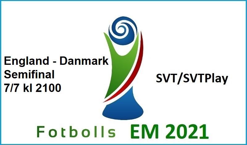 England - Danmark i Fotbolls EM 2021