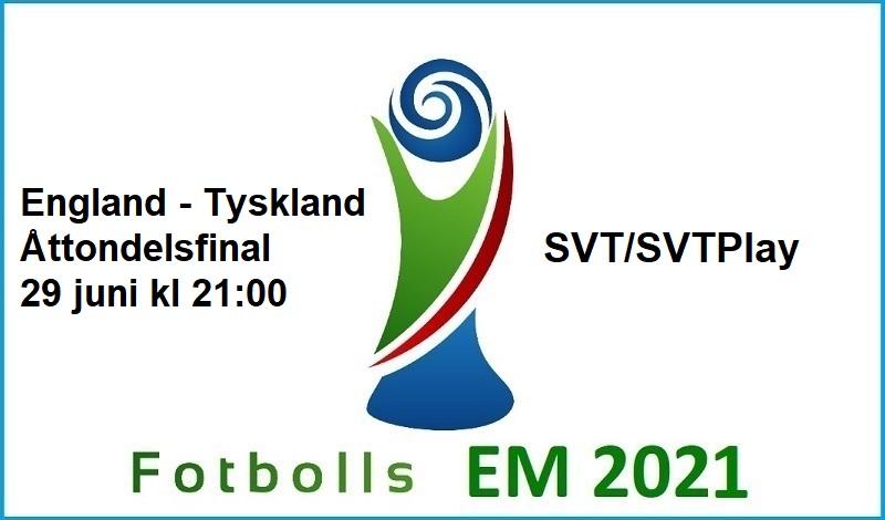England - Tyskland i Fotbolls EM 2021
