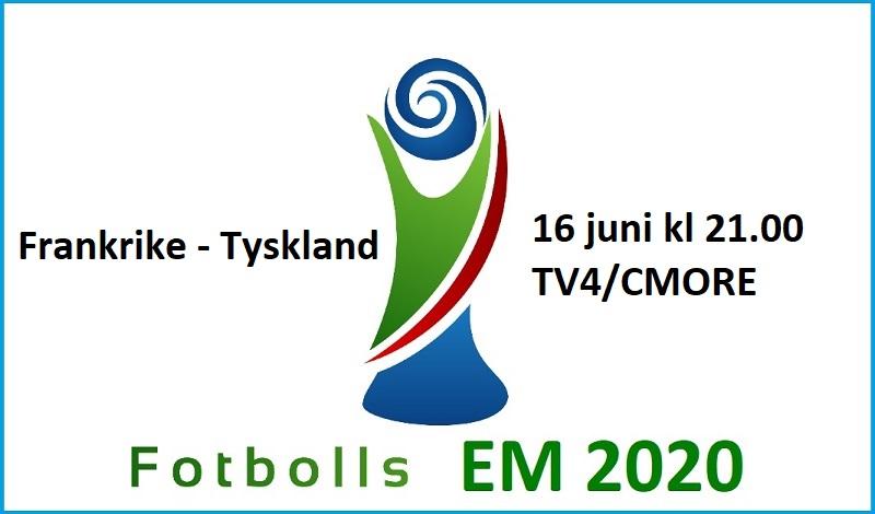 Frankrike - Tyskland i Fotbolls EM 2020