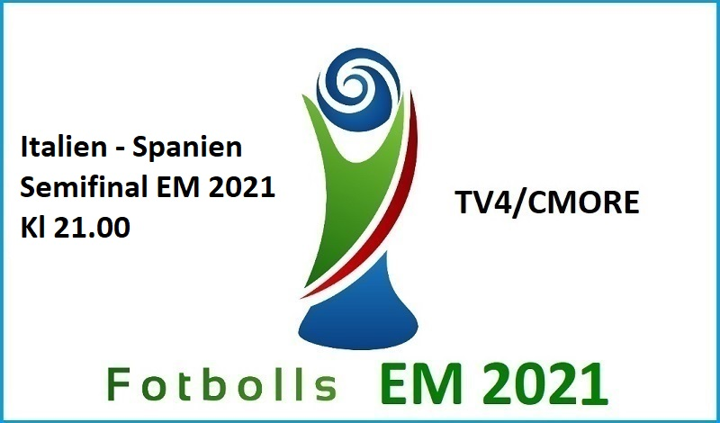 italien - Spanien i Fotbolls EM 2021