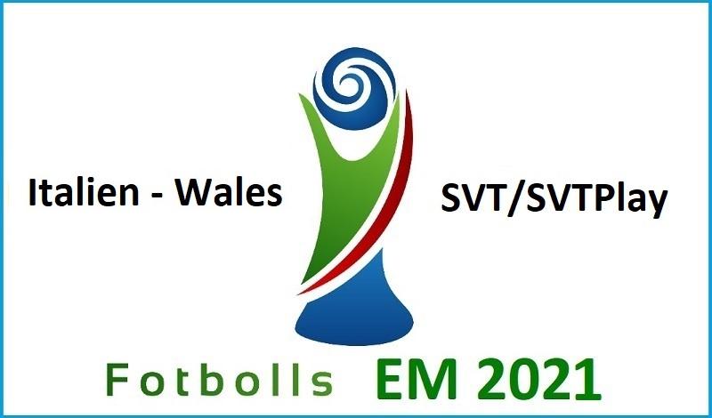 Italien - Wales i Fotbolls EM 2021