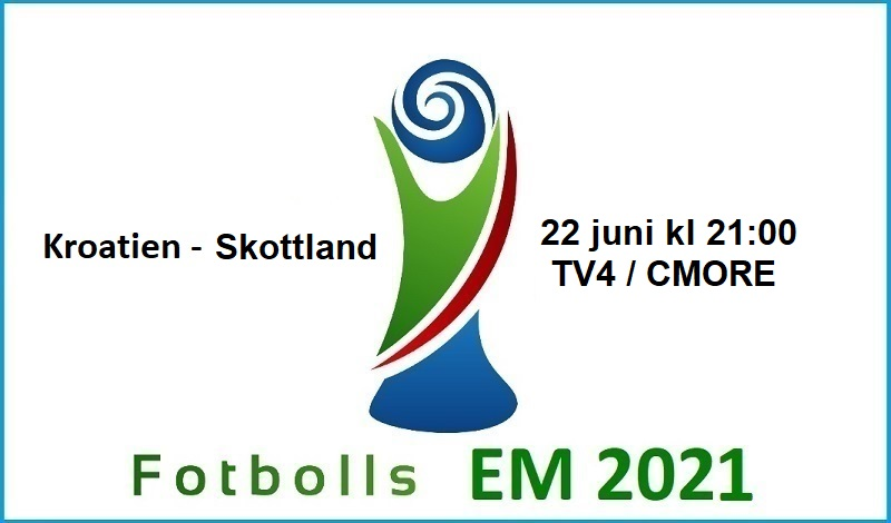 Kroatien - Skottland i Fotbolls EM 2021