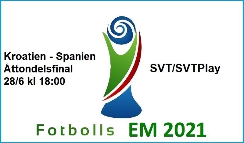 Kroatien - Spanien i Fotbolls EM 2021
