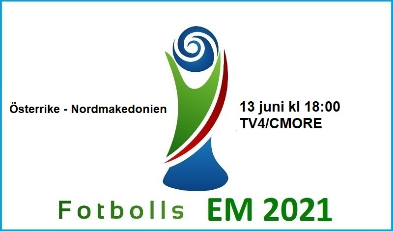 Österrike - Nordmakedonien i Fotbolls EM 2021