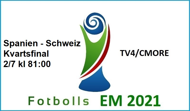 Schweiz - Spanien i Fotbolls EM 2021