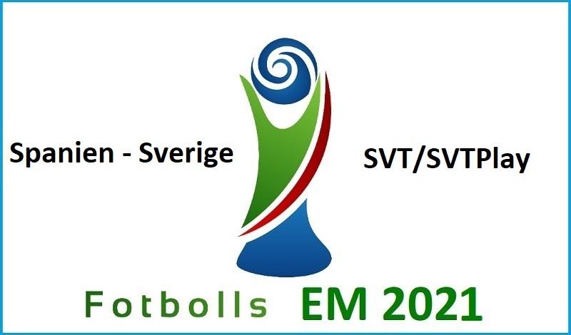 Spanien - Sverige i Fotbolls EM 2021