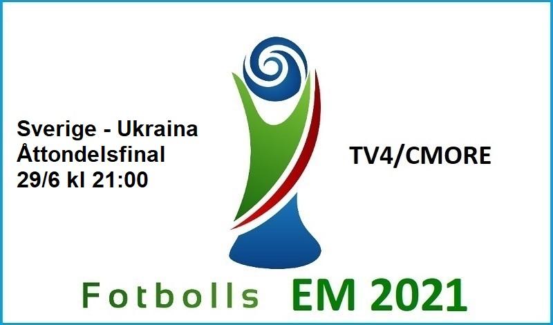 Sverige - Ukraina i Fotbolls EM 2021