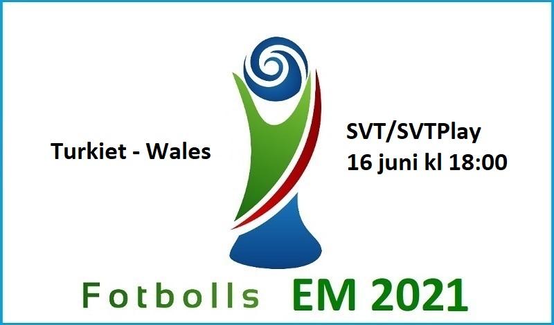 Turkiet - Wales i Fotbolls EM 2021