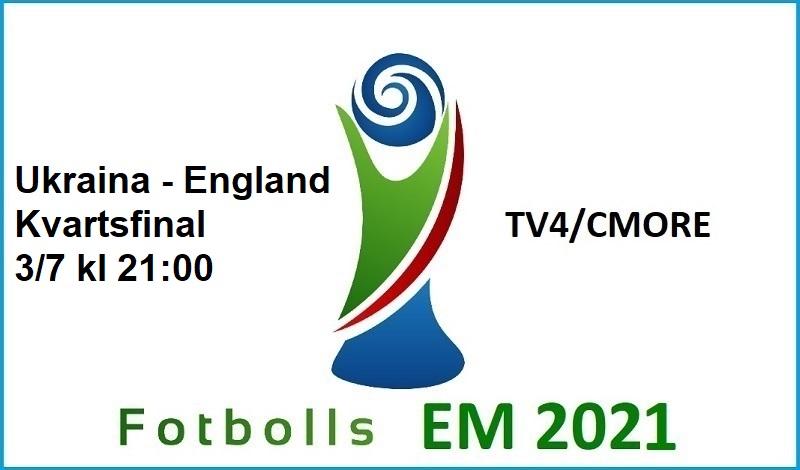 Ukraina - England i Fotbolls EM 2021