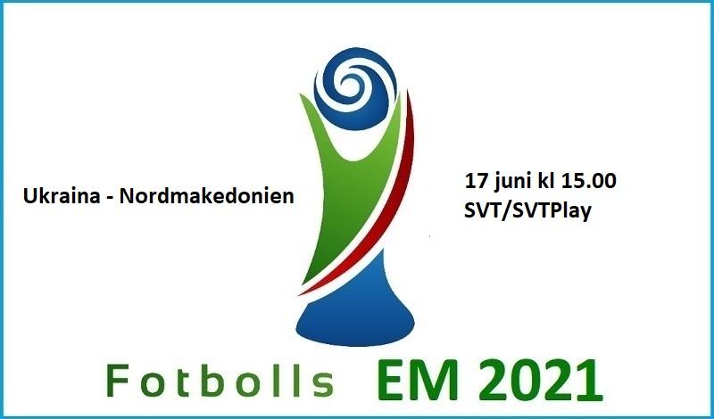 Ukraina - Nordmakedonien i Fotbolls EM 2021