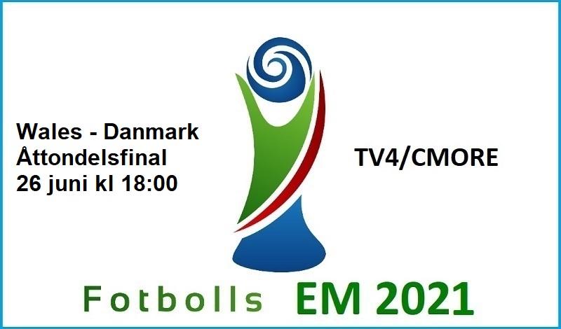 Wales - Danmark i Fotbolls EM 2021
